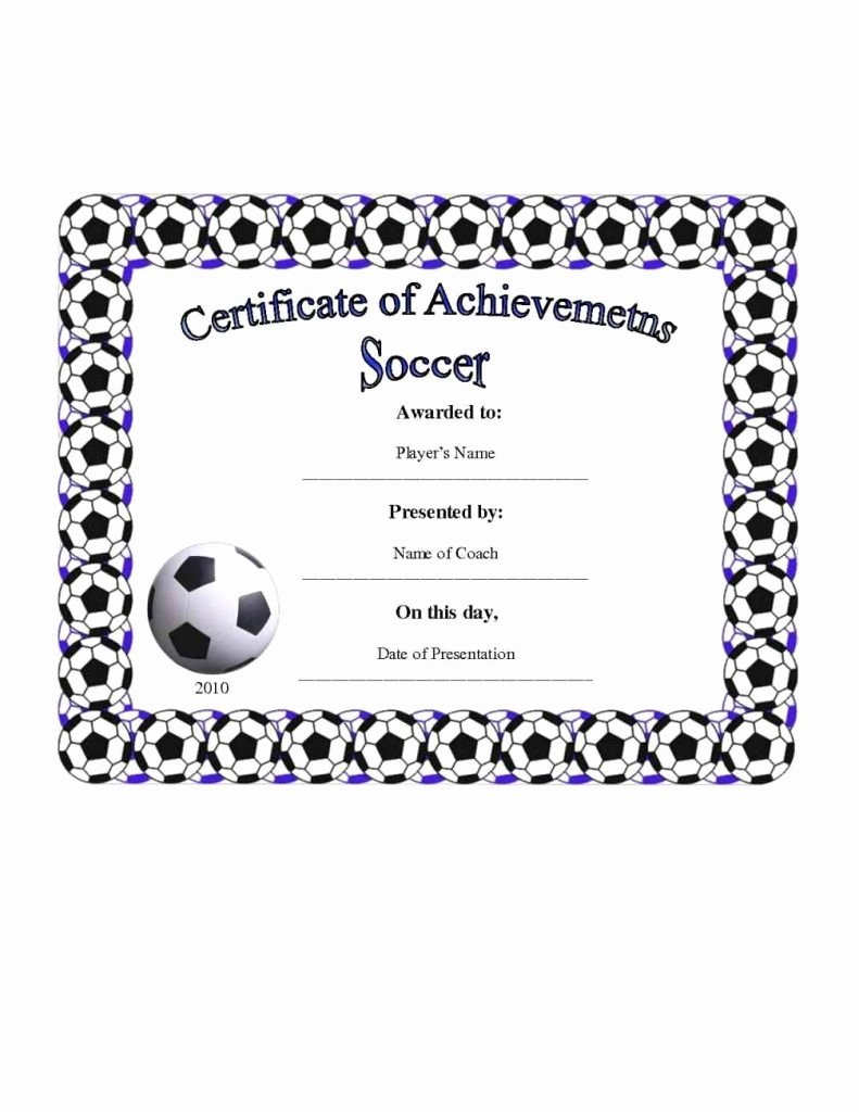 Football Certificate Template Free Unique Football Certificate Templates Template Update234