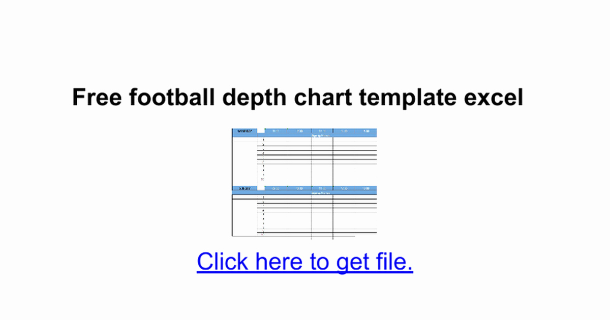 Football Depth Chart Templates Inspirational Free Football Depth Chart Template Excel Google Docs