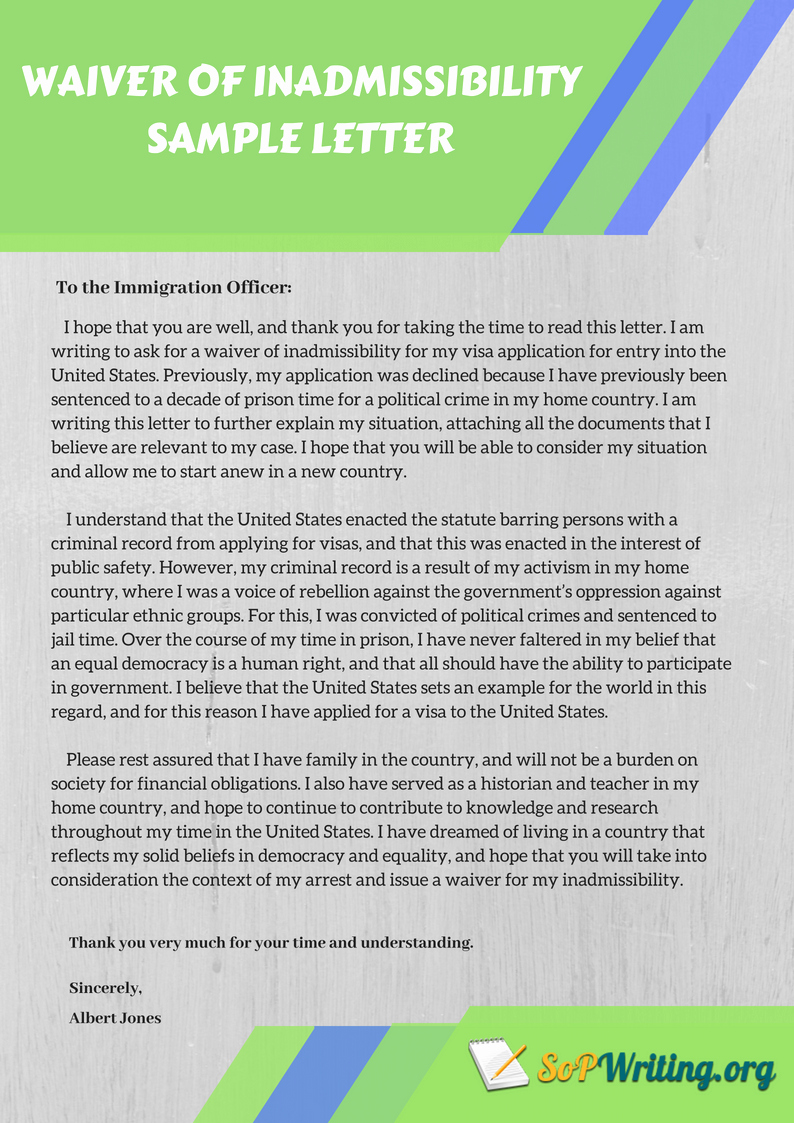 Forgiveness Letter for Immigration Sample Awesome Basics Of Writing A Immigration Waiver Letter