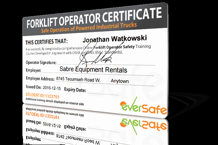 Forklift Certificate Template Free Beautiful Line forklift Certification Training Get Your forklift