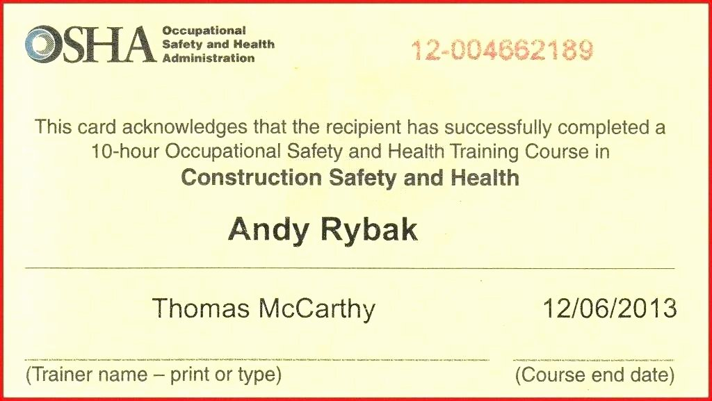 Forklift Certificate Template Free Lovely forklift Training Certificate Template