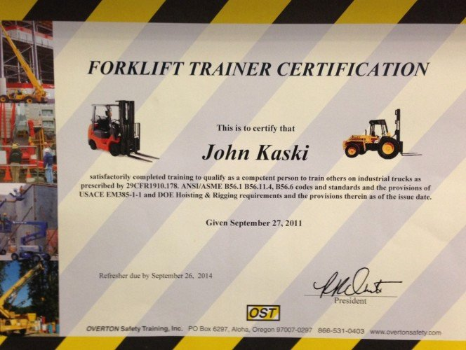 Forklift Training Certificate Template Awesome forklift Certification Driverlayer Search Engine
