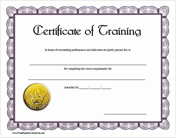 Forklift Training Certificate Template Free Beautiful 30 Training Certificate Templates – Samples Examples format
