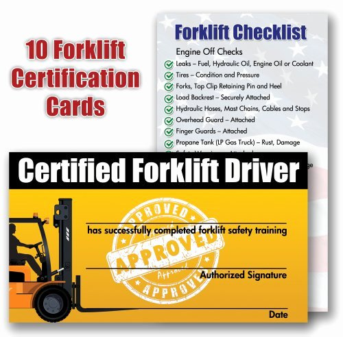 Forklift Training Certificate Template Free Elegant forklift Certification Training Cards Package Of 10 New