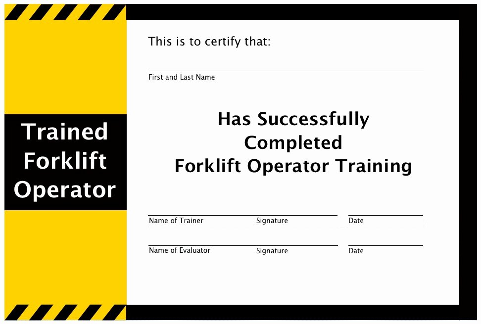 Forklift Training Certificate Template Free Fresh forklift Training Training Program Safety Jobs