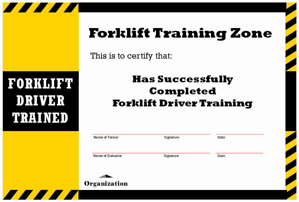 Forklift Training Certificate Template Inspirational New Blog 1 forklift Certification