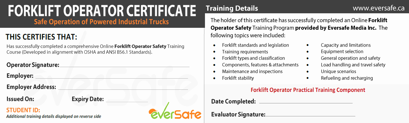 Forklift Training Certificate Template Luxury Line forklift Certification Training Get Your forklift