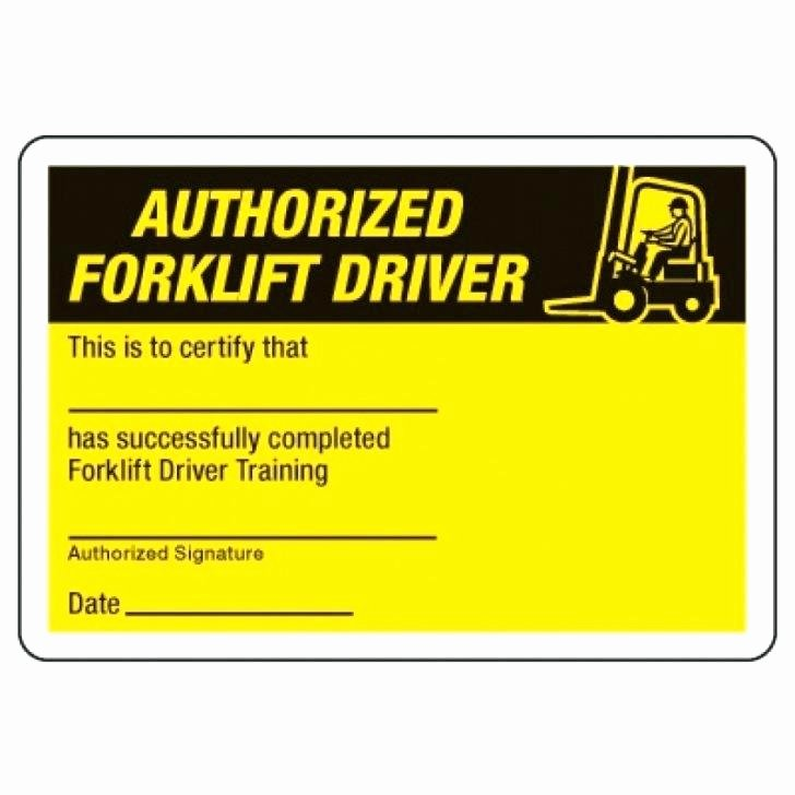 Forklift Training Certificate Template Unique How to forklift Certification for Free