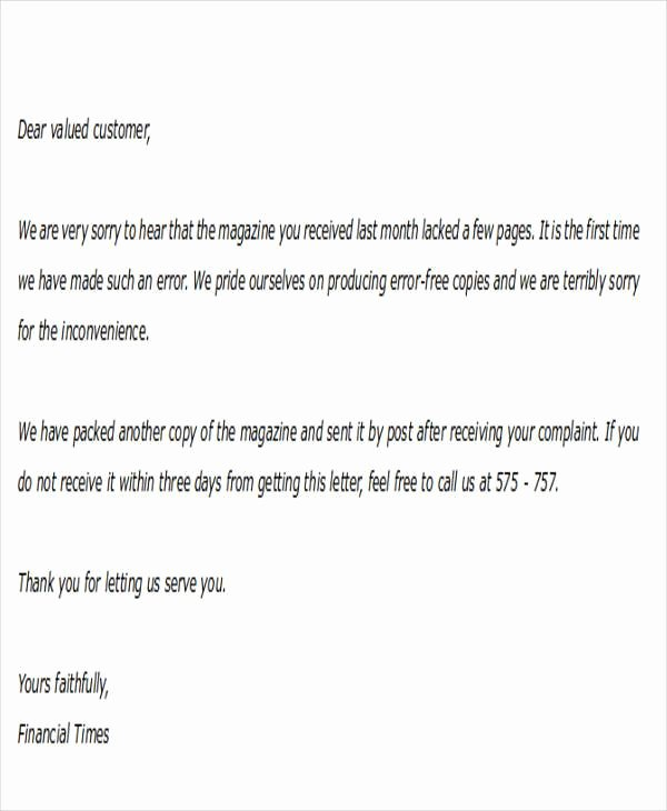 Formal Apology Template Luxury formal Apology Letters
