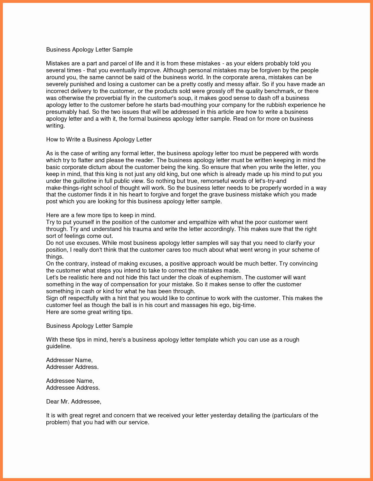 Formal Apology Template New 7 Apology Letter From Pany