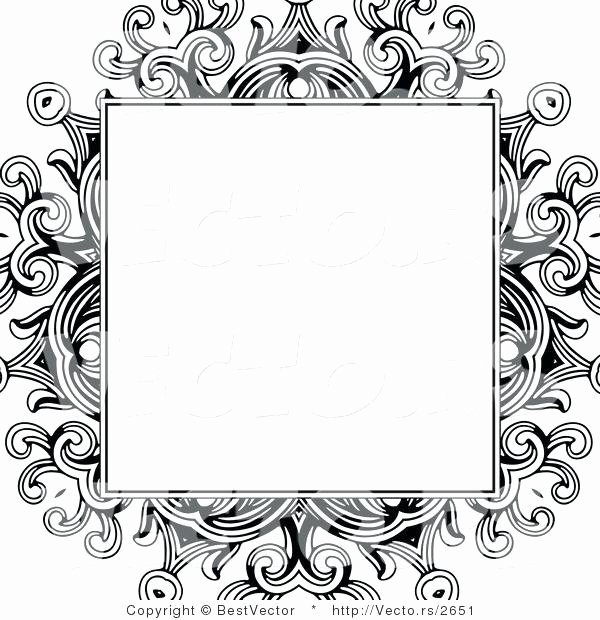 Formal Black and White Borders for Word Elegant Vector Borders Designs at Getdrawings