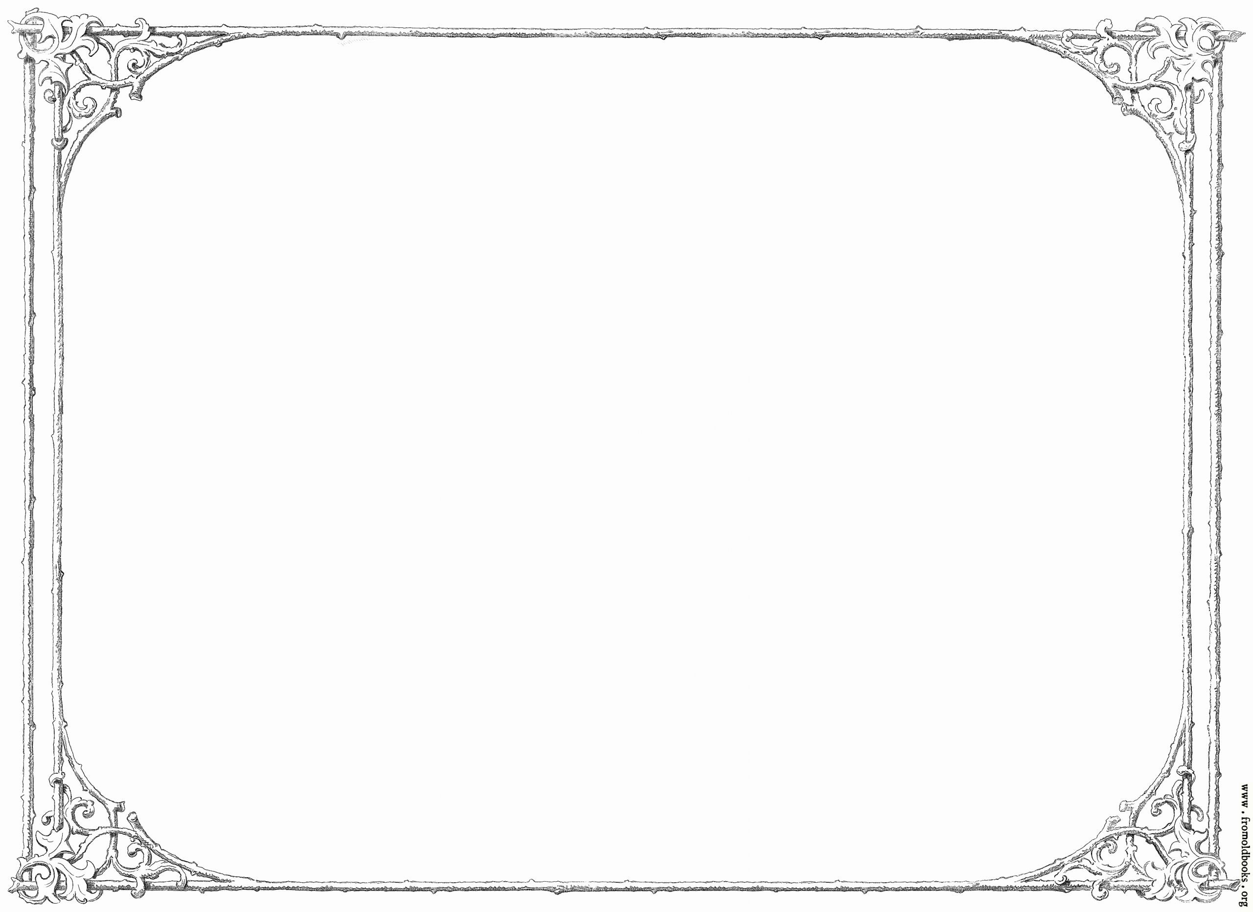 Formal Black and White Borders for Word Lovely Free Clip Art Victorian Border Of Twigs and Leaves