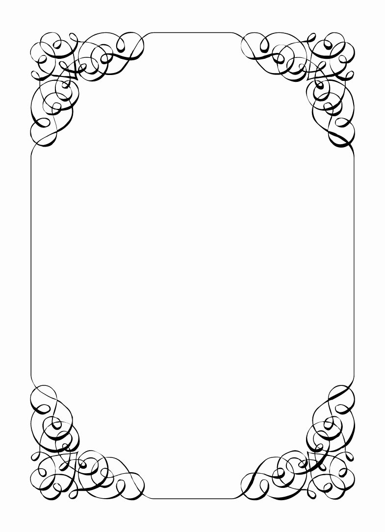 Formal Black and White Borders for Word Lovely Halloween Clip Art Fancy Black and White Borders