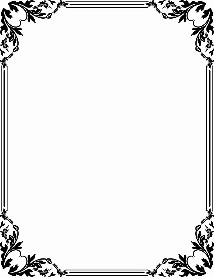 Formal Black and White Borders for Word Unique Fancy Color Thanksgiving Borders – Festival Collections