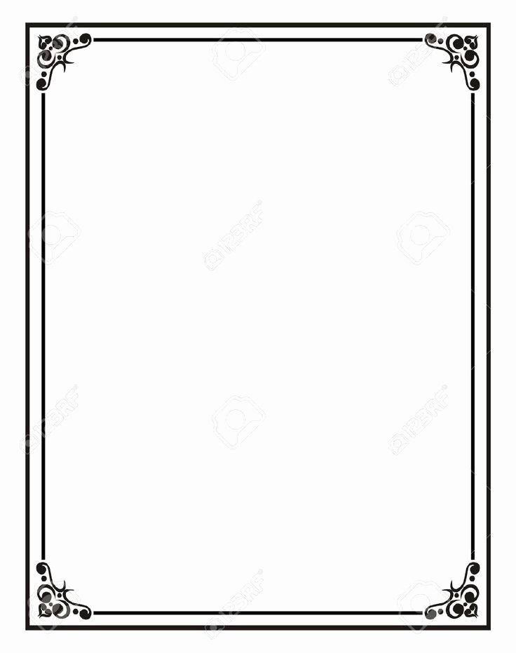 Formal Black and White Borders for Word Unique Home Fice Certificate Border Stock S
