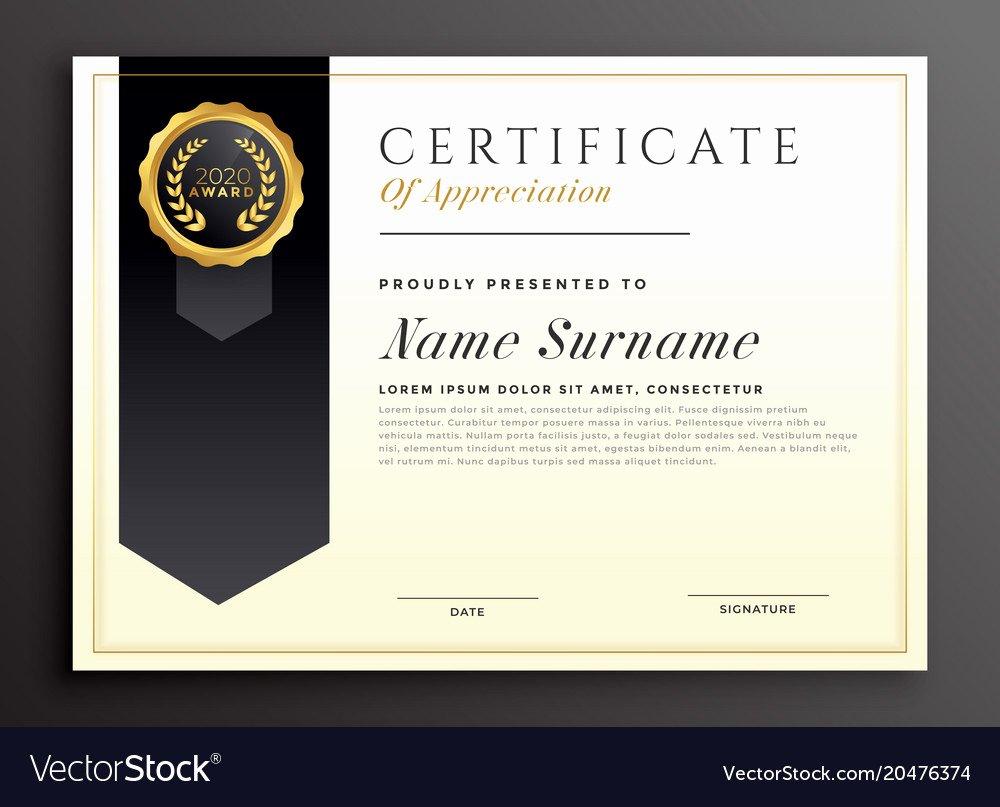 Formats for Scholarship Certificates Beautiful Elegant Diploma Award Certificate Template Design Vector Image