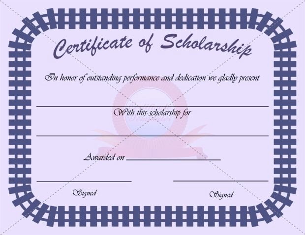Formats for Scholarship Certificates Beautiful Scholarship Certificate Template
