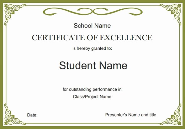 Formats for Scholarship Certificates Inspirational Free 26 Printable Sample Certificate Templates In