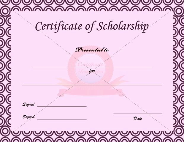 Formats for Scholarship Certificates Inspirational Scholarship Certificate Template