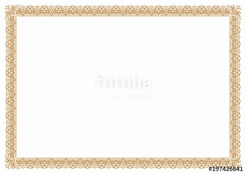 "Frame for Certificate Of Appreciation Best Of ""gold Abstract Border & Frame for Certificate Of"