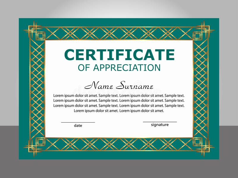 Frame for Certificate Of Appreciation Fresh Retro Frame Certificate Appreciation Template Stock