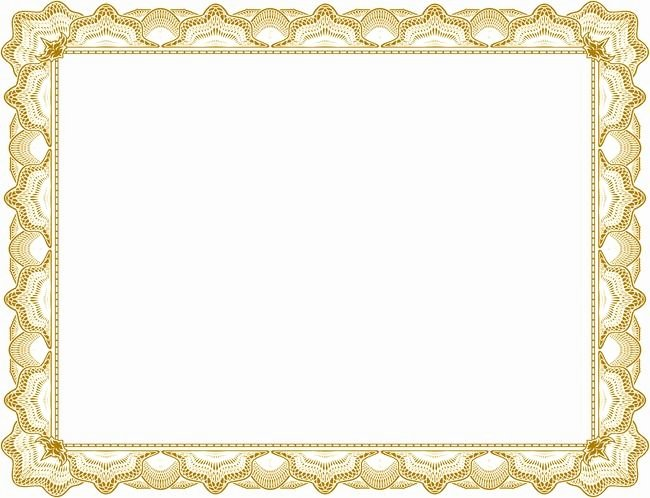 Frame for Certificate Of Appreciation Inspirational Lace Frame Png and Vector with Transparent Background for