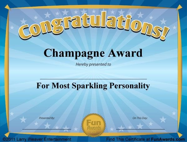 Fraternity formal Awards Ideas Beautiful Funny Award Certificates 101 Funny Certificates to Give