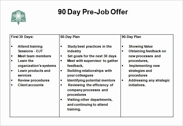 Free 30 60 90 Day Plan Template Excel Awesome 30 60 90 Day Action Plan Template