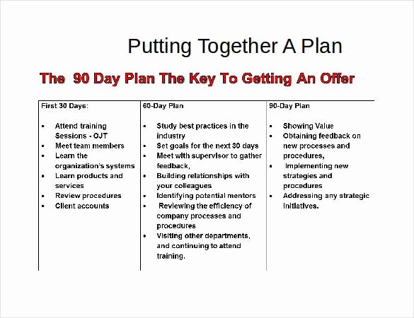 Free 30 60 90 Day Plan Template Excel Awesome 37 30 60 90 Day Plan Templates Word Pages Pdf Google