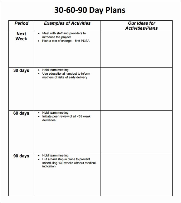Free 30 60 90 Day Plan Template Excel Fresh 30 60 90 Day Plan Template 8 Free Download Documents In Pdf