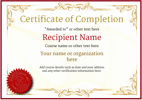 Free Anger Management Certificate Template Beautiful Certificate Templates