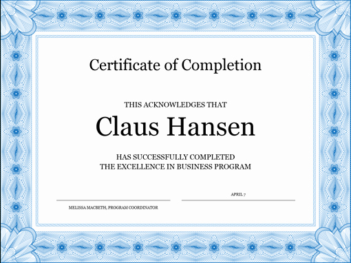 Free Anger Management Certificate Template New Certificate Pletion Template