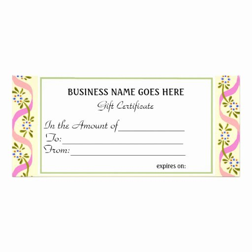 Free Avon Gift Certificate Template Best Of Business Gift Certificate