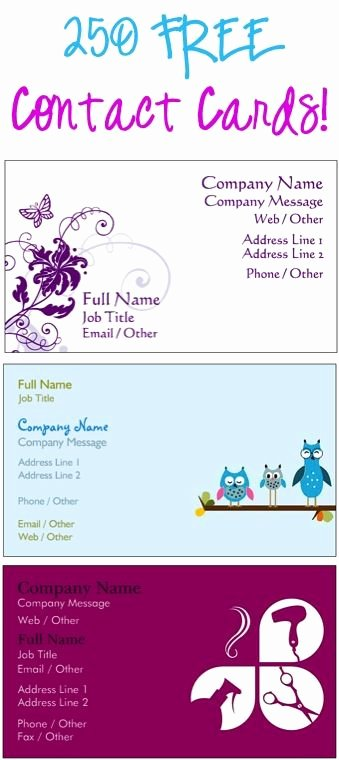 Free Avon Gift Certificate Template Elegant 250 Free Contact Cards or Business Cards Just Pay S H