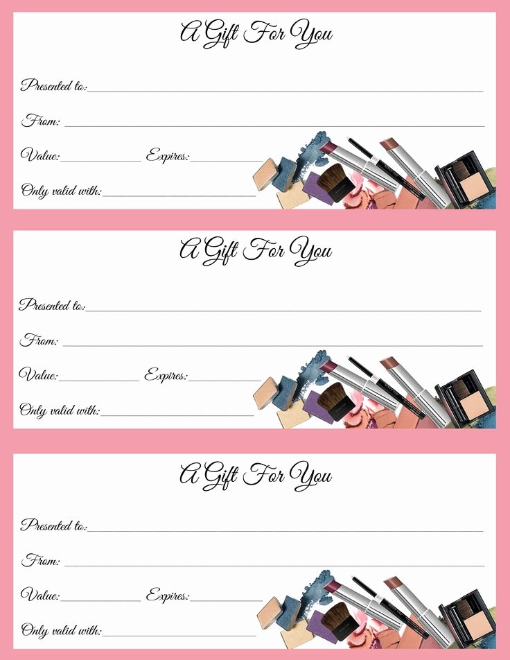 Free Avon Gift Certificate Template Elegant Gift Certificates Just In Time for Call or Text to order