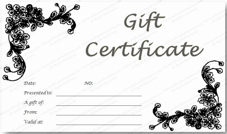 Free Avon Gift Certificate Template Lovely Black Glades Gift Certificate Template