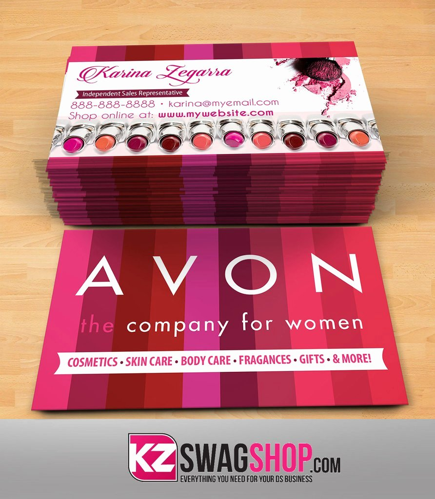 Free Avon Gift Certificate Template New Avon Business Cards Style 1 – Kz Swag Shop