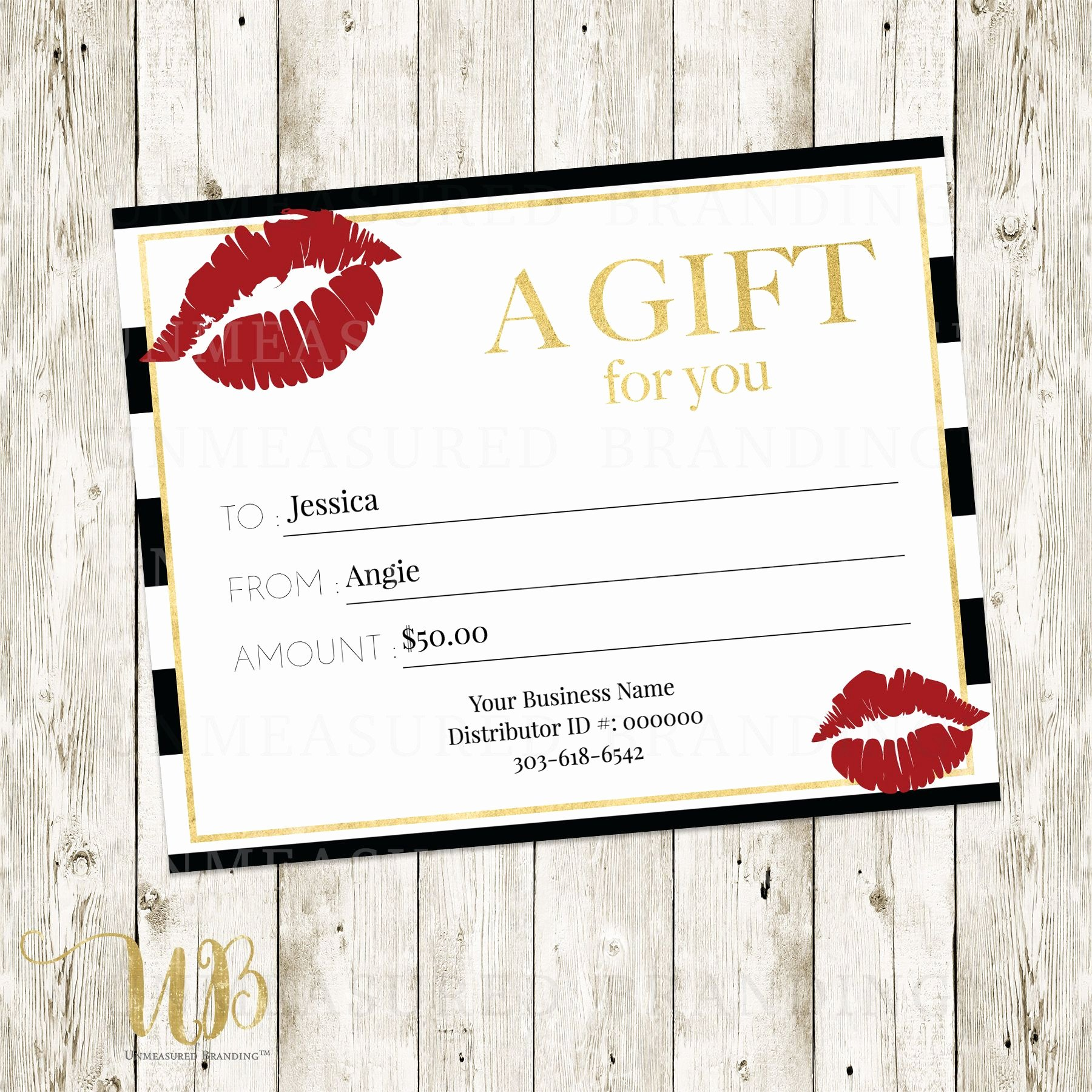 Free Avon Gift Certificate Template New Lipsense Gift Certificate Templat Avon