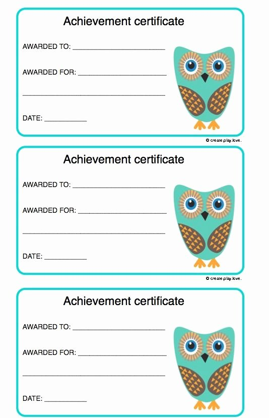 Free Award Templates for Teachers Unique Achievement Certificates for Kids
