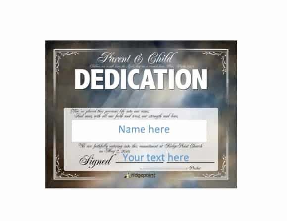 Free Baby Dedication Certificate Download Beautiful 50 Free Baby Dedication Certificate Templates Printable