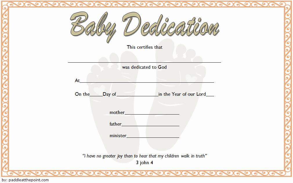 Free Baby Dedication Certificate Download Best Of Free Fillable Baby Dedication Certificate Download 7