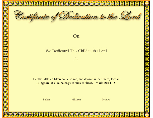 Free Baby Dedication Certificate Download Best Of Pin On Church Certificaes