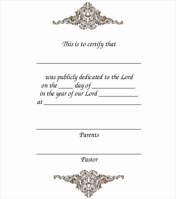 Free Baby Dedication Certificate Download New 14 Baby Certificate Templates