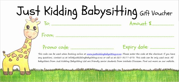 Free Babysitting Certificate Template Best Of 13 Baby Sitting Voucher Templates Psd Ai Indesign