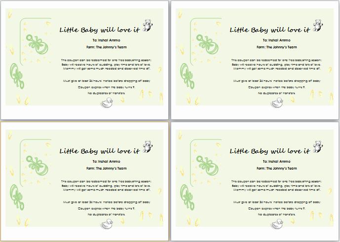 Free Babysitting Certificate Template Elegant Babysitter Gift Certificate Template for Word