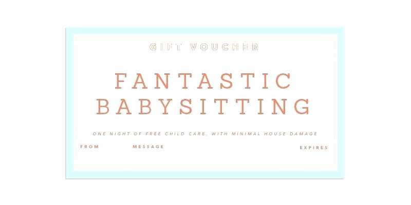 Free Babysitting Certificate Template Lovely 15 Babysitting Coupon Examples Psd Ai Indesign