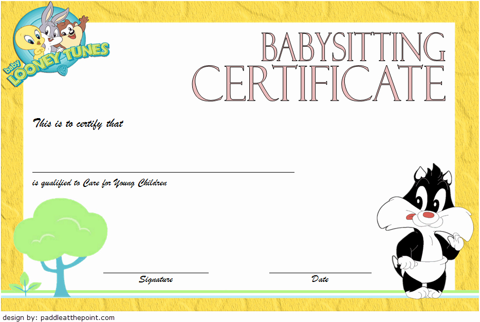 Free Babysitting Certificate Template Lovely Babysitting Certificate Template 8 Latest Designs