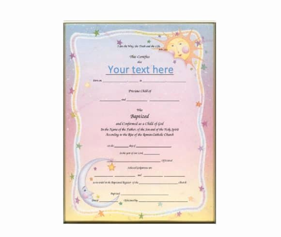 Free Baptism Certificate Template Awesome 47 Baptism Certificate Templates Free Printable Templates