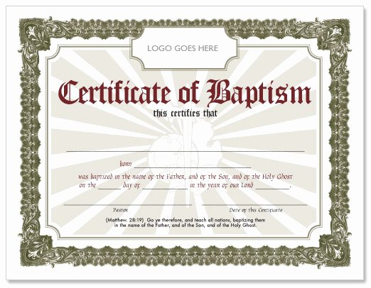 Free Baptism Certificate Template Inspirational Free Baptism Certificate Hmong American Baptist Church