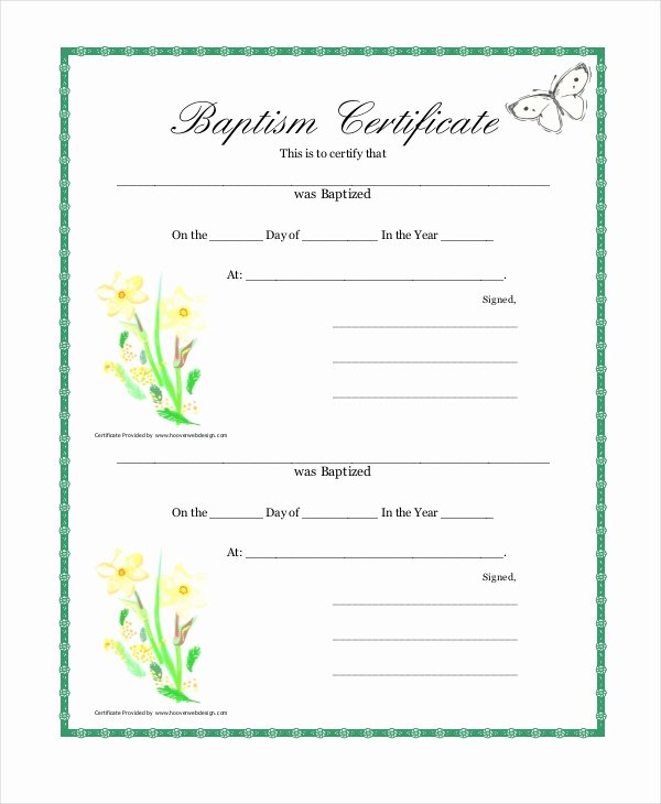 Free Baptism Certificate Template Luxury 18 Sample Baptism Certificate Templates Free Sample